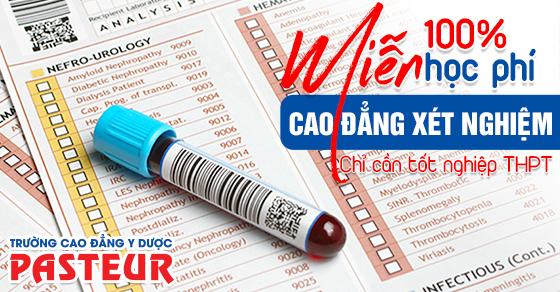 Cao đẳng Xét nghiệm Y học Hà Nội tuyển sinh miễn 100% học phí 2020