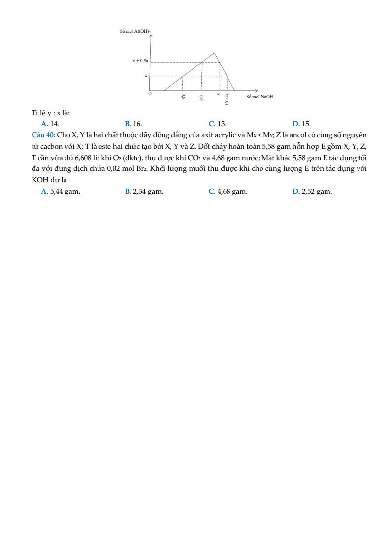 Đề thi thử và đáp án chi tiết môn Hóa học THPT Chuyên Bắc Ninh – lần 4 – 2018