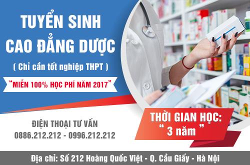 Trường Cao đẳng Y Dược Pasteur miễn 100% học phí 2017 học tại Hà Nội