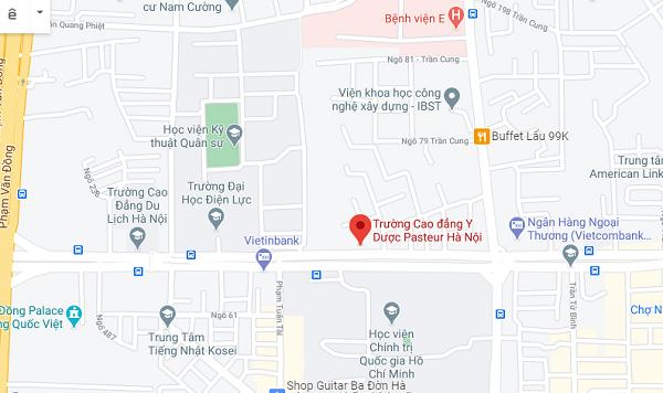Bản đồ Trường Cao đẳng Y Dược Pasteur Hà Nội