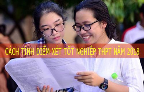 Cách tính điểm xét tốt nghiệp THPT năm 2018, công thức tính điểm xét tốt nghiệp 2018, cách tính điểm xét tốt nghiệp THPT mới nhất