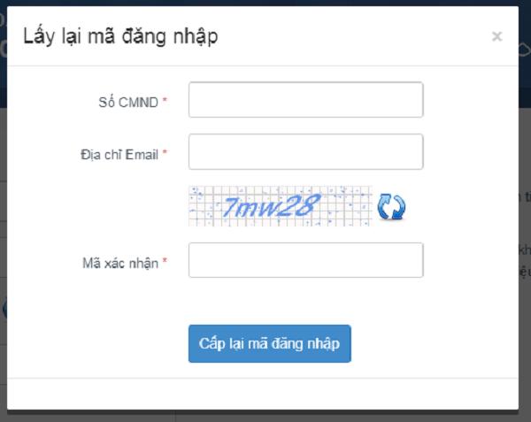 Cách lấy lại mã đăng nhập