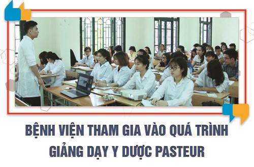 Bệnh viện tham gia vào quá trình giảng dạy tại Trường Cao đẳng Y Dược Pasteur