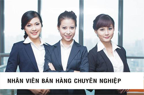 Nhân viên bán hàng chuyên nghiệp là ngành nghề có thu nhập cao