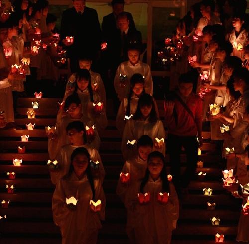 Hình ảnh một buổi lễ tri ân người hiến xác