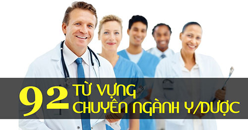92 Từ vựng tiếng Anh chuyên ngành Y Dược